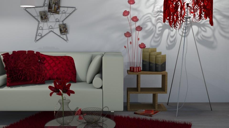 inspired by red - Living room - by snjeskasmjeska