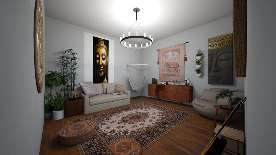 boho room - Living room - by Mackenzie Kem