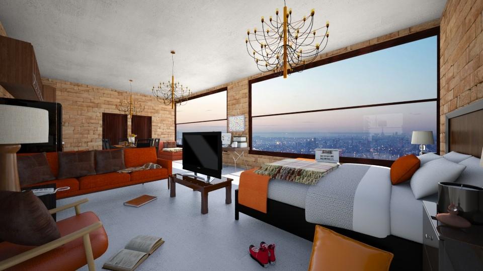 man loft 3_2 - Living room - by Ritix