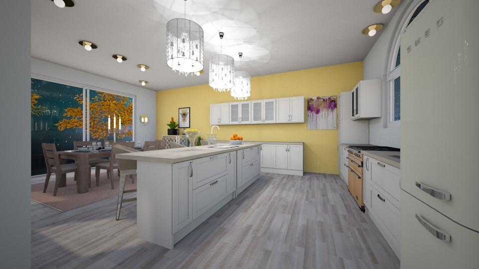 Shabby Chic Kitchen - Kitchen - by JayellaCruise
