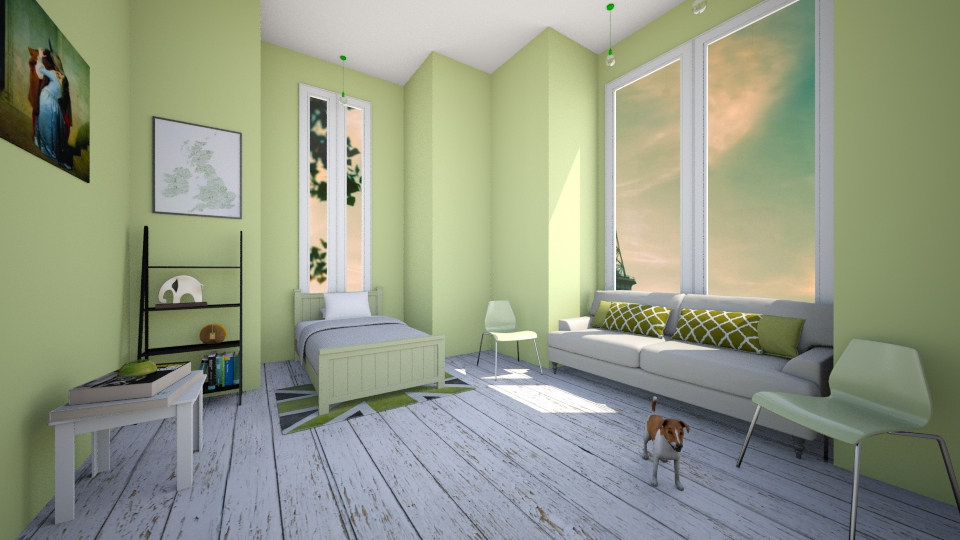 Green Bedroom - Bedroom - by Sunny Bunny