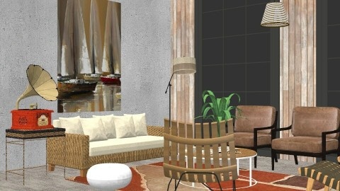 Zen Living Detail - Living room - by cervidaeus