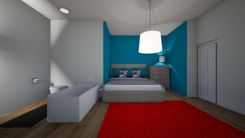 fisics na blue oh yeah - Bedroom - by Alice F