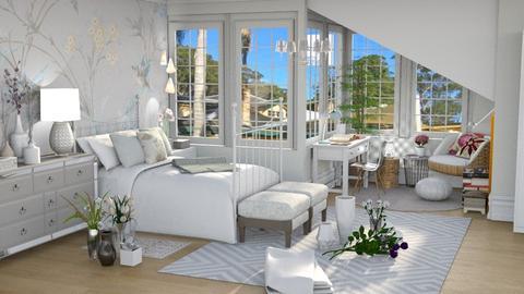 Flower Bedroom 1 - Bedroom - by Mariana Gooliveira