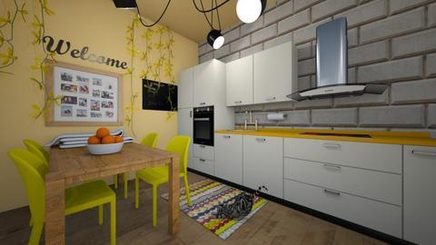 Good vibes kitchen - Modern - Kitchen - by Wiktoria Niewiadomska