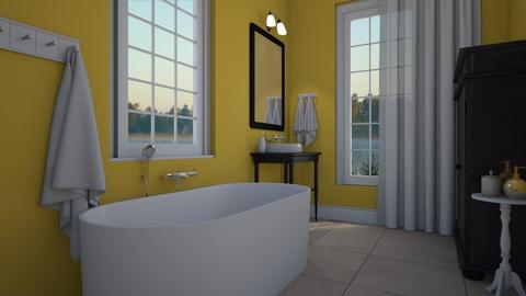 Bath yellow - Bathroom - by Tuija