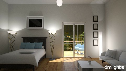 hotel - Bedroom - by DMLights-user-1347177