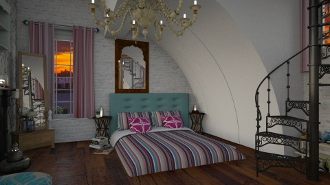 boho bed2 - Eclectic - Bedroom - by donella