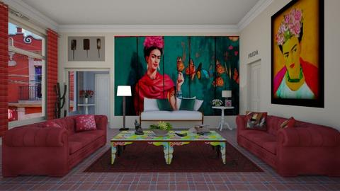 Frida Kahlo - Retro - Living room - by Elenn