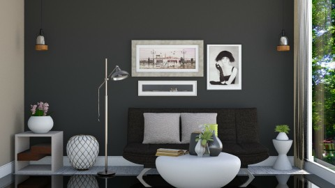 Black - Living room - by ayu DR