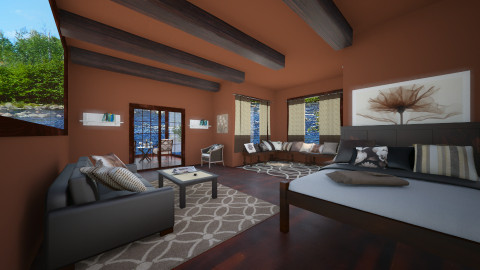 Boathouse Bedroom - Rustic - Bedroom - by elizabethross