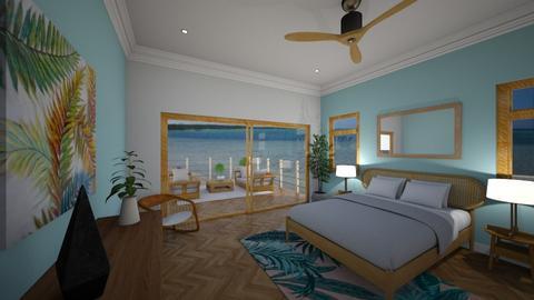 Tropical Bedroom - Bedroom - by spencethewhovian