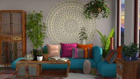 Bohemian - Living room - by lydiairenefritz