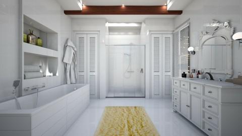 Banheiro Branco - Bathroom - by Roberta Coelho