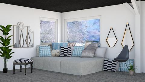 Black White and Blue - Classic - Bedroom - by millerfam