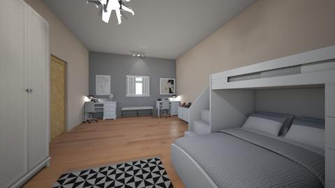 roommates - Feminine - Bedroom - by AfroditeGoldie