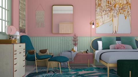 rosa och gron - Modern - Bedroom - by HenkRetro1960