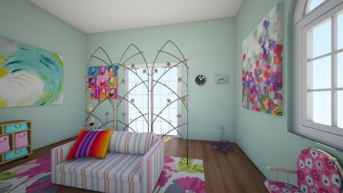 Rainbow blast - Vintage - Kids room - by Roomstyler666