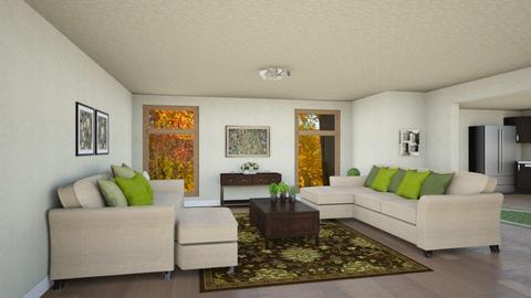 Living Room in Green - Classic - Living room - by Psweets