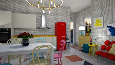playful kitchen - Modern - Kitchen - by mari mar