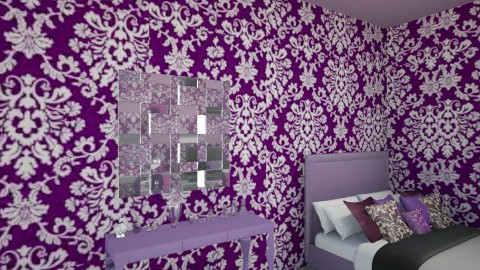 purple bedroom 2 - Bedroom - by Denitza Marinova