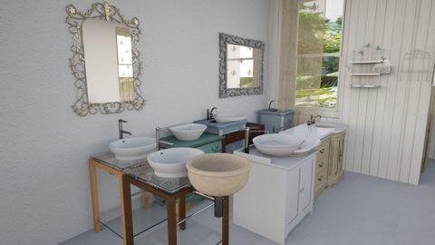 shabby chic bathroom - Bathroom - by Moonpearl
