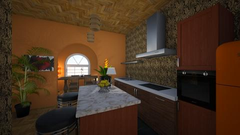 MidCent Mod - Kitchen - by HIHELLOHI