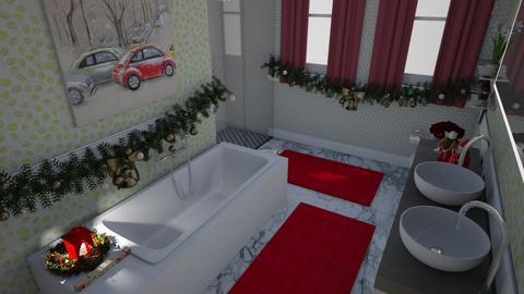 Christmas Bathroom - Bathroom - by PenAndPaper