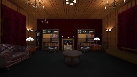 Manor Hall - Living room - by WestVirginiaRebel