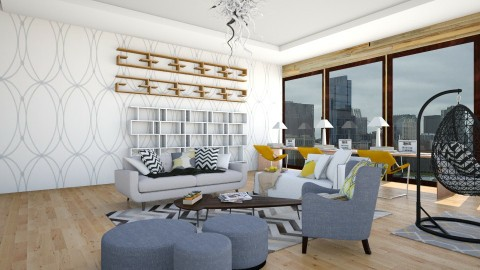 MC Contract Room - Modern - Living room - by mariescorner