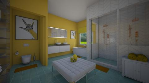 Bathroom in Yellow  - Bathroom - by LooseThreads