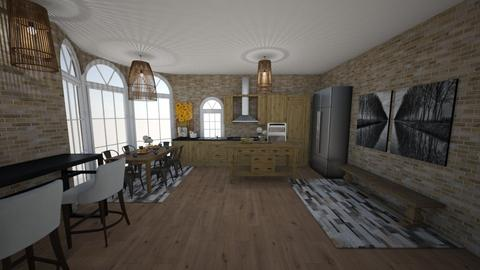 wooden stone kitchen  - by martinal2