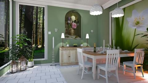 Green Dining - Modern - Dining room - by Sue Bonstra