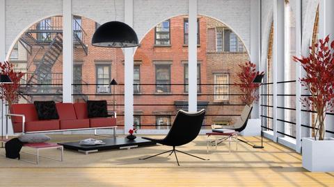 Loft - Living room - by GraceKathryn