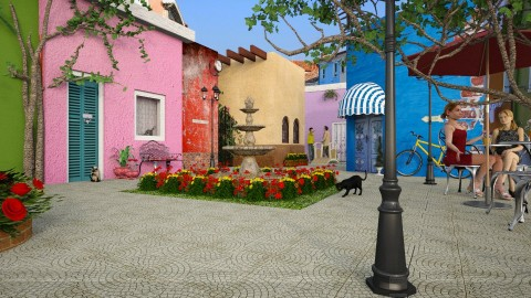 Burano courtyard  - by meggle