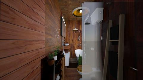 Bathroom rustic home - by ziolkowskamarcela