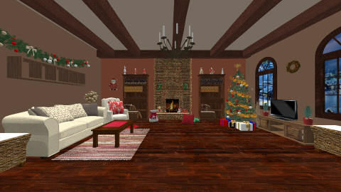 Christmas - Living room - by Evihun