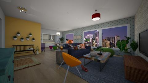 bohosoho Daisy Arias - Global - Living room - by Daisy de Arias