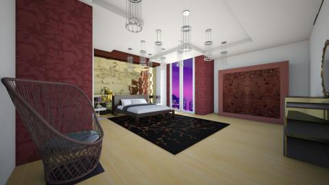 purp - Bedroom - by Elvira  Elvira