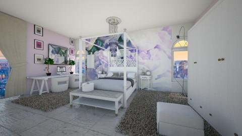 girly bedroom white - Feminine - Bedroom - by eleonoraxruc