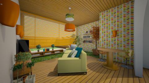 Retro - Retro - Living room - by Sali15