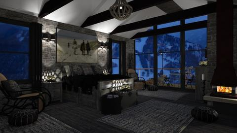 Design 418 Snowy Aspen Night - Bedroom - by Daisy320