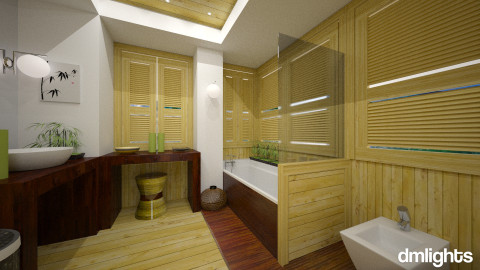 Bamboo Bath - Bathroom - by DMLights-user-982267