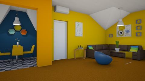Orange Carpet - Classic - Living room - by i l o n a