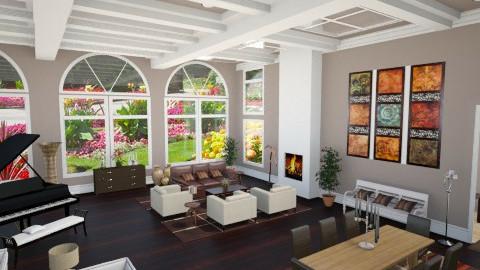 Grand room - Glamour - Living room - by Linda Koen_326