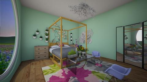 wildflower bedroom - Bedroom - by avawrightthewrightone