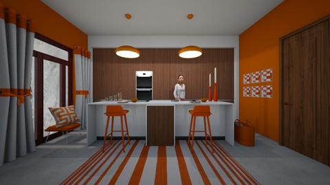 Mid Century modern - Kitchen - by Matilda de Dappere