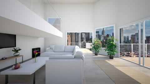 Modern  - Living room - by moosierawwr