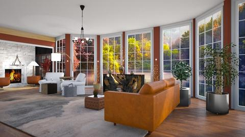 Fall Mist - Country - Living room - by Wildflowers