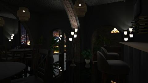 Gloomy pub - by Sanja Pipercic